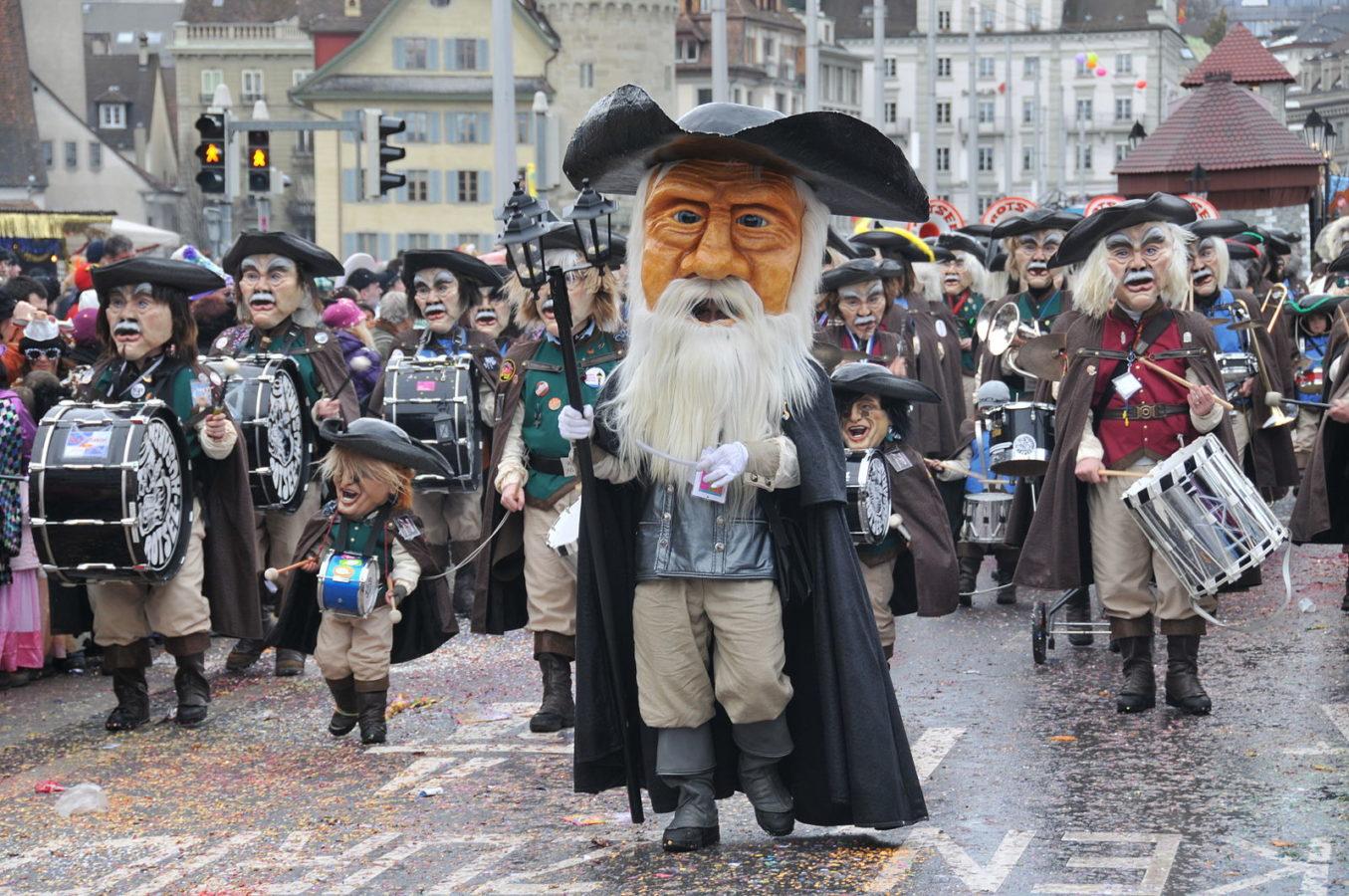 瑞士節慶|盧森狂歡節Fasnacht